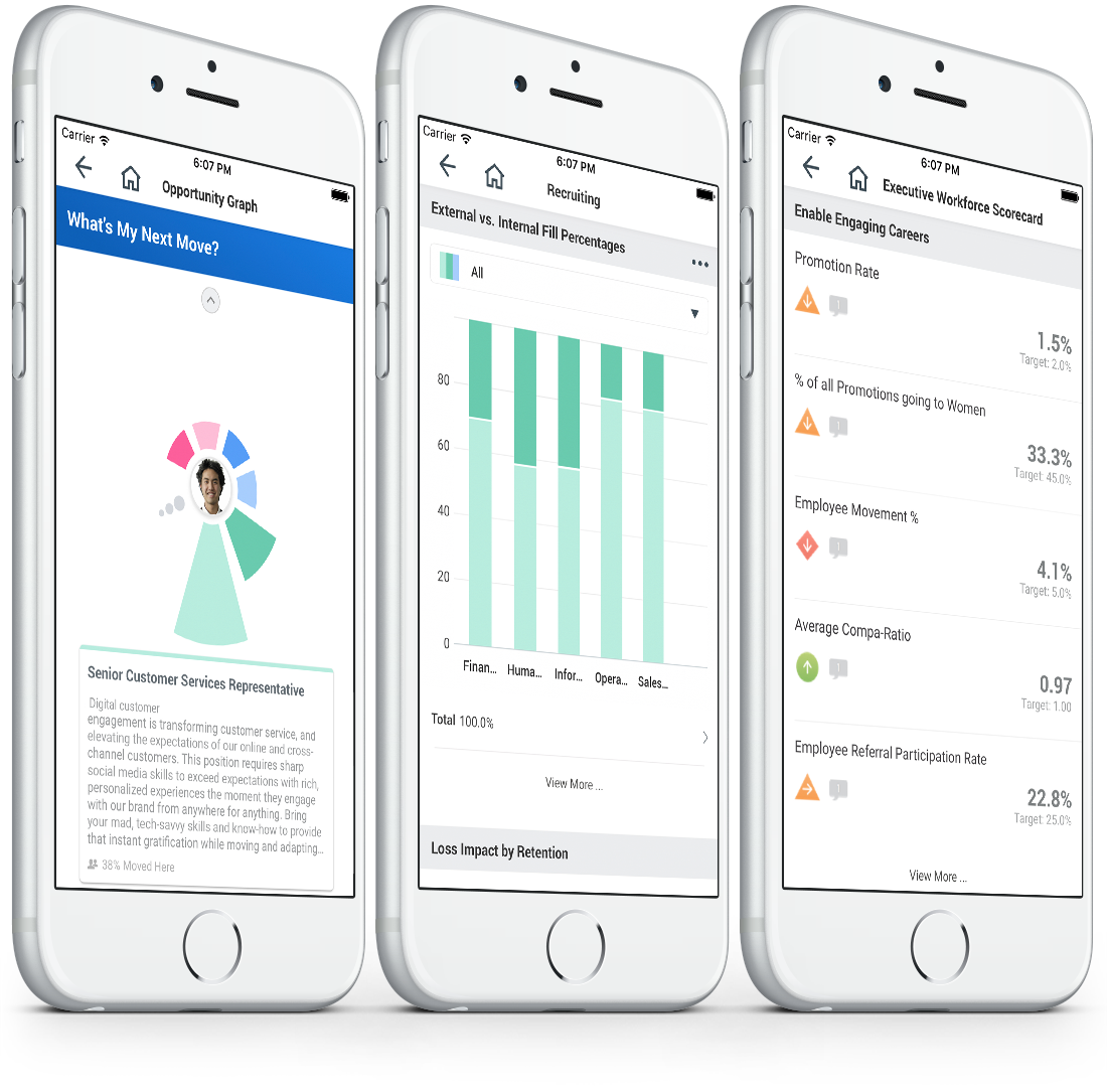 Workday analytics on mobile.