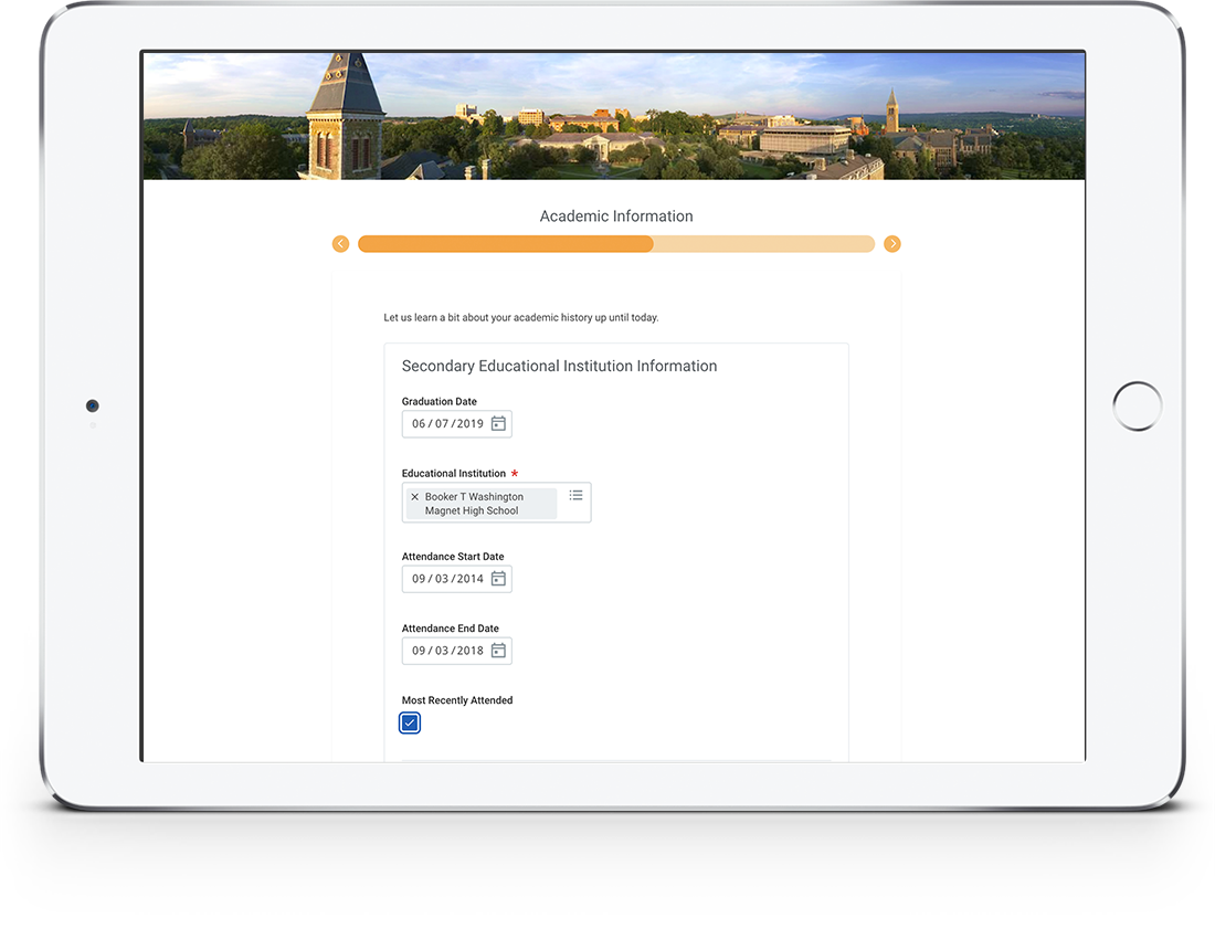 Student Admissions and Application Process | Workday