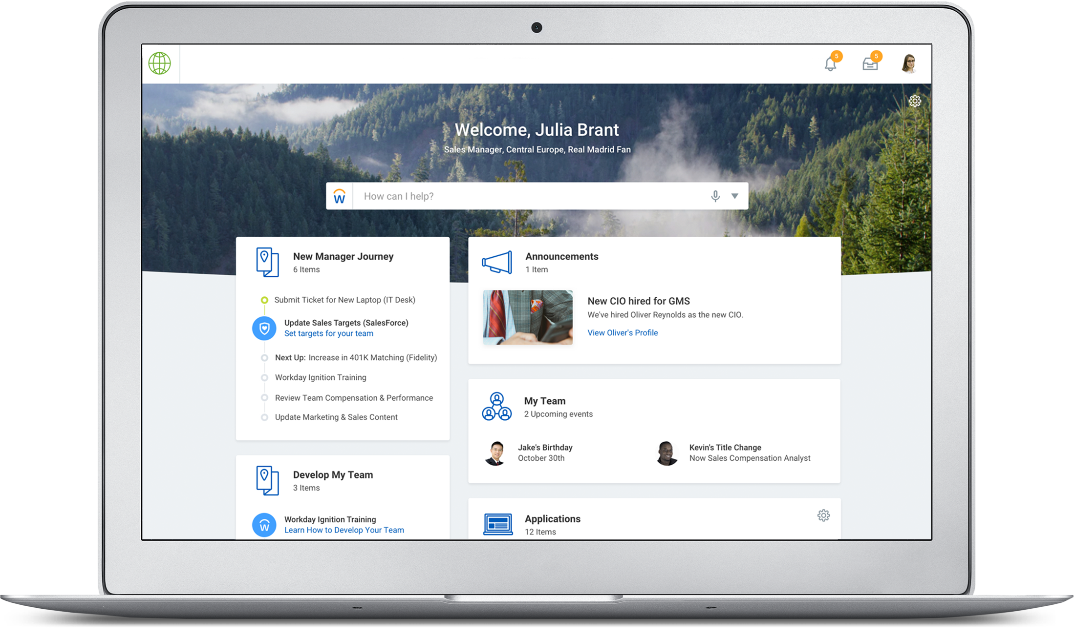 workday new manager journey ux