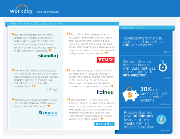 Customers achieving breakthrough success with Workday